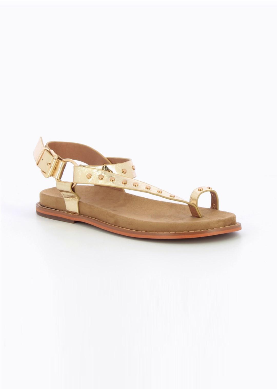 Sandales Or à clous