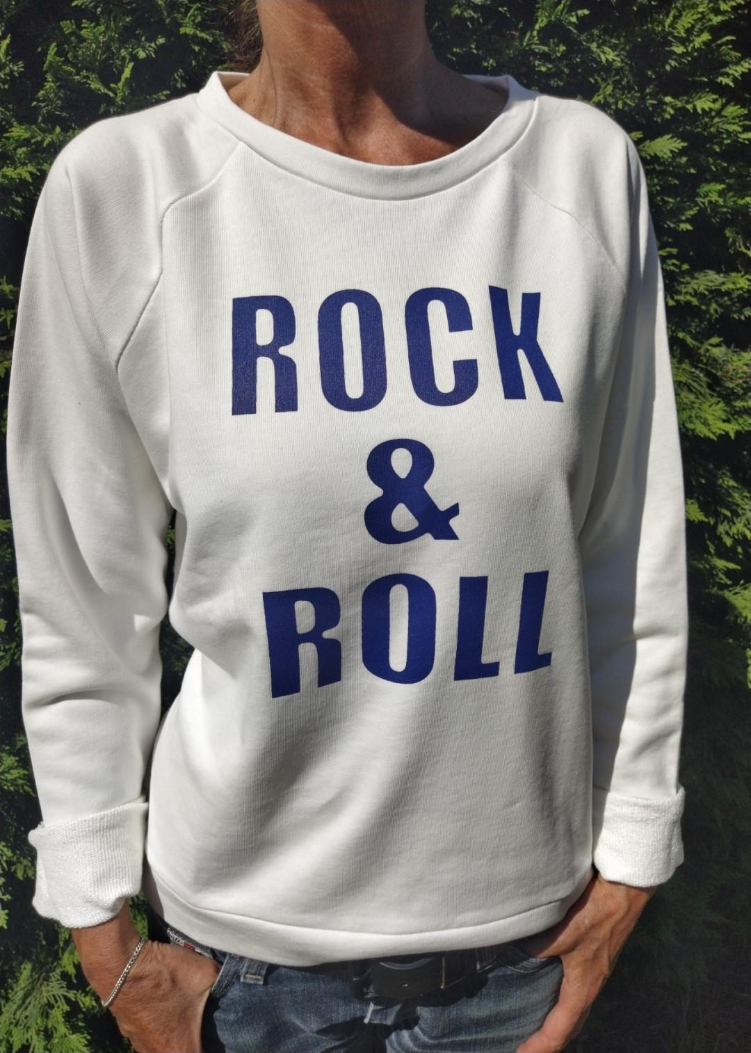 Sweat blanc N°55 Rock & Roll