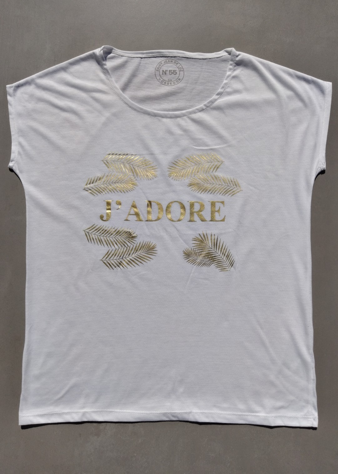 Tee shirt blanc N°55 J'adore.
