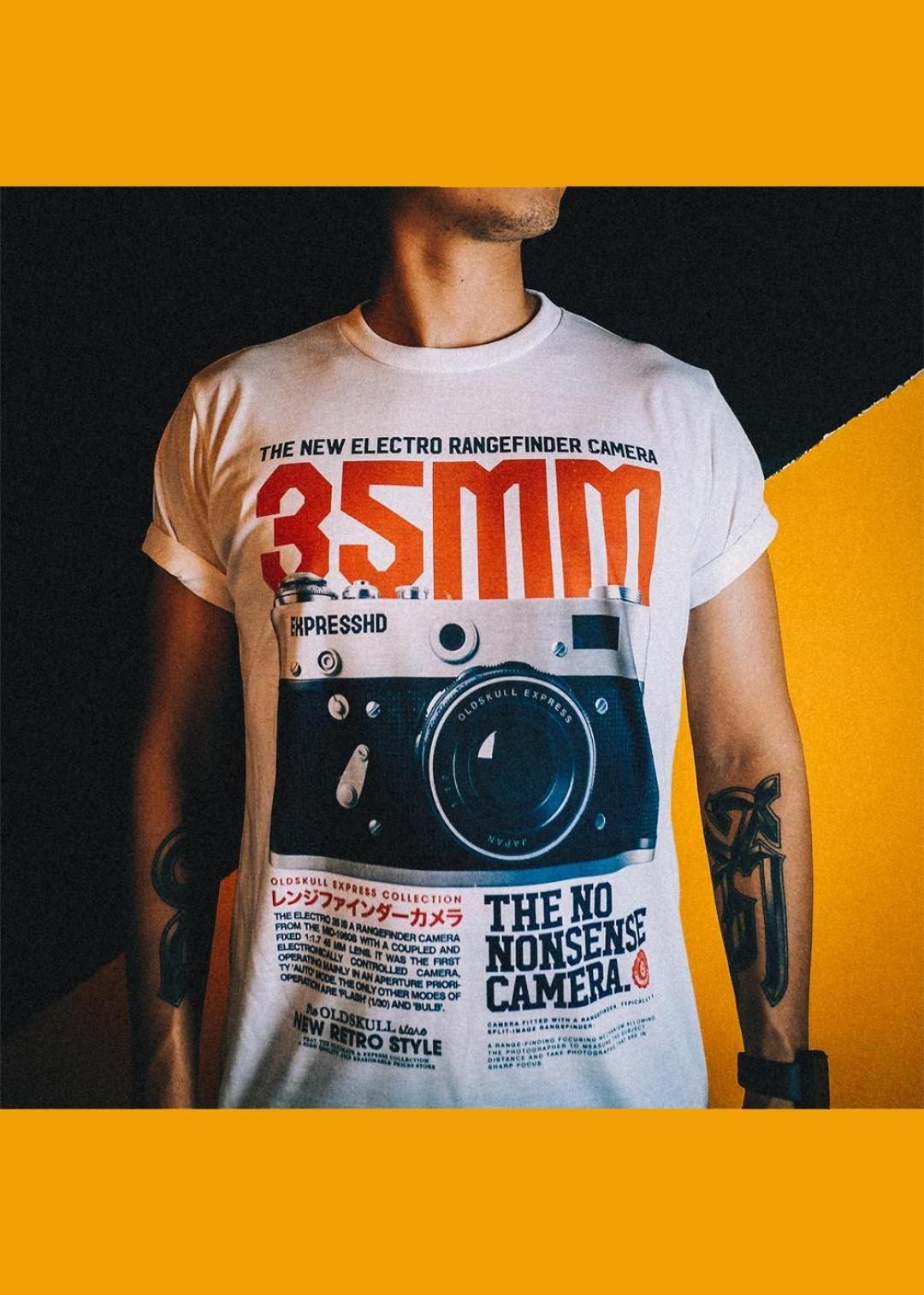 tee shirt blanc Oldskull 35mm