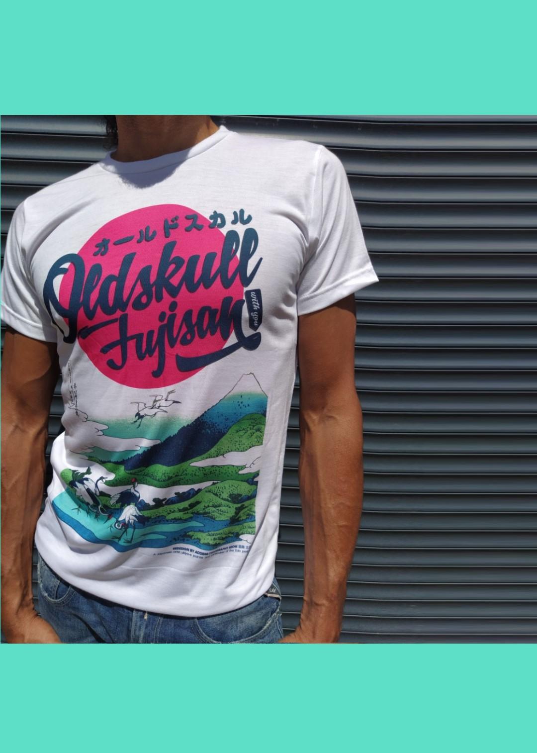 Tee shirt blanc Oldskull Fujisan.