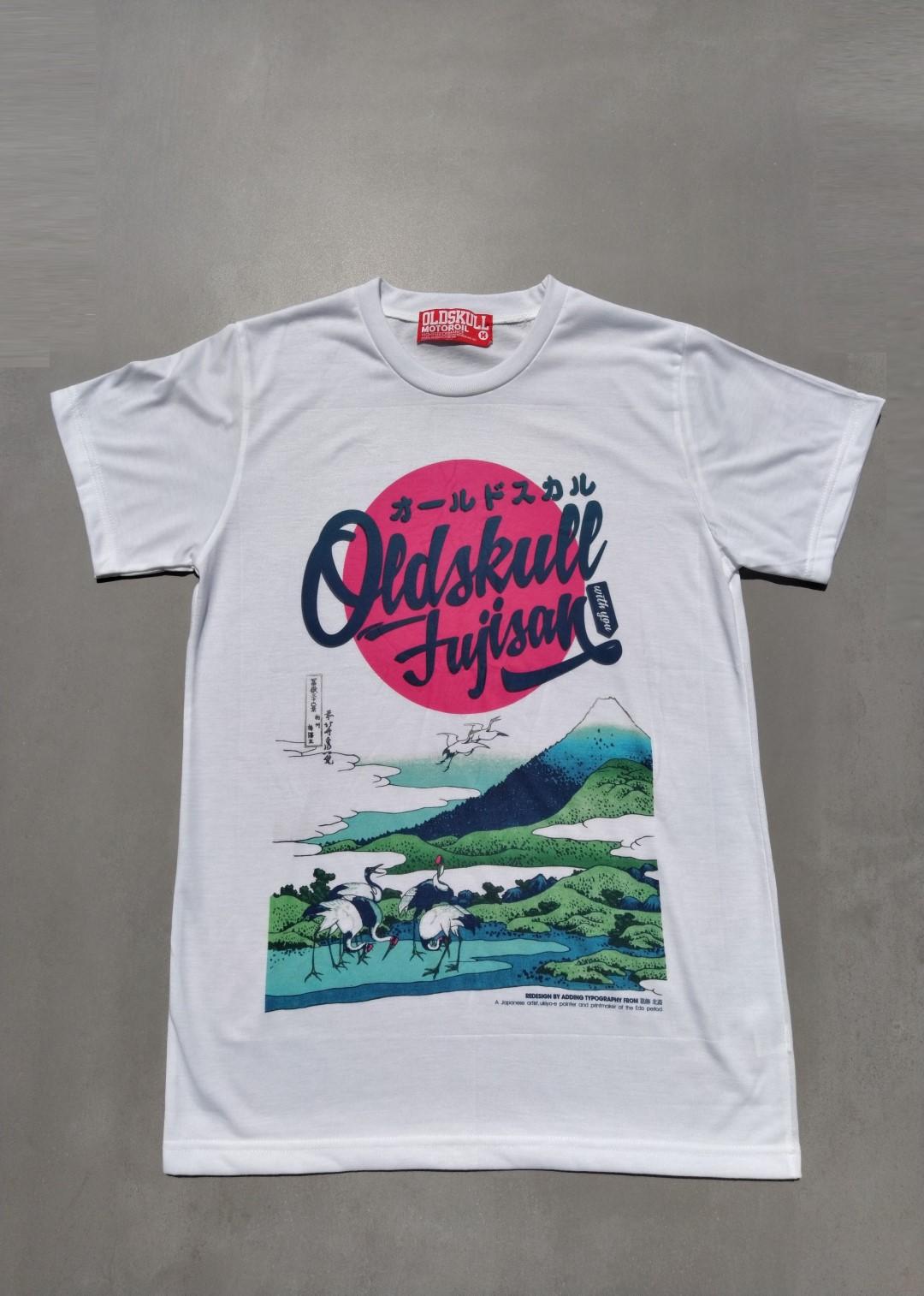 Tee shirt blanc Oldskull Fujisan